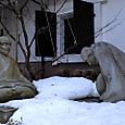 芭蕉と曽良の別れ像